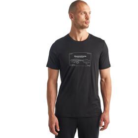 Icebreaker Tech Lite SS Crew Shirt Queenstown Men, black
